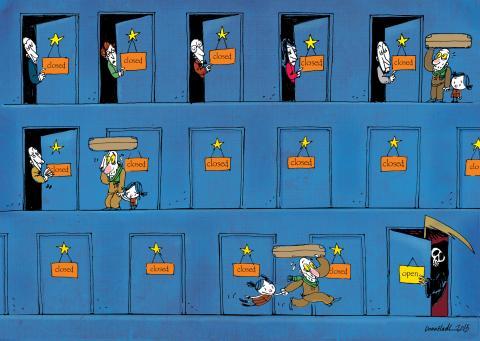 Cartoon about refugees