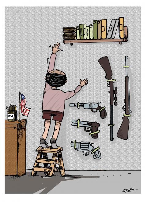 Cartoon about gun control