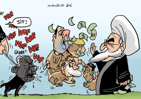 Cartoon about Iran and Europe