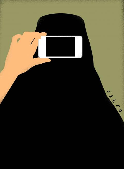 Cartoon about the burqa