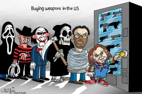 Cartoon about gun culture