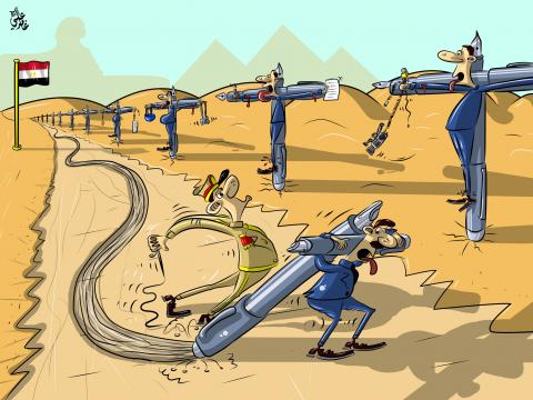Cartoon about journalism in Egypt
