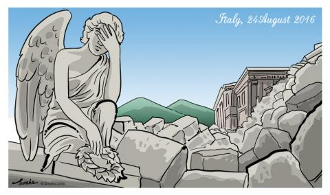 Cartoon about Italy
