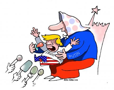 Cartoon about Trump and Putin