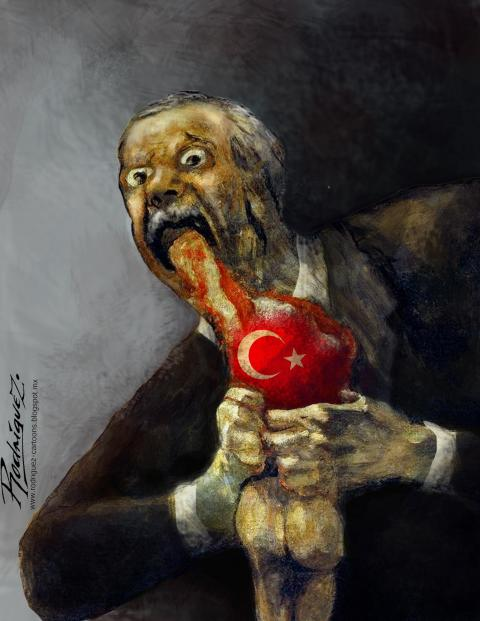 Cartoon about Erdogan
