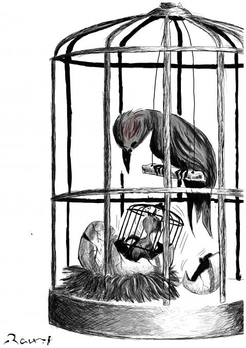 Cartoon about slavery