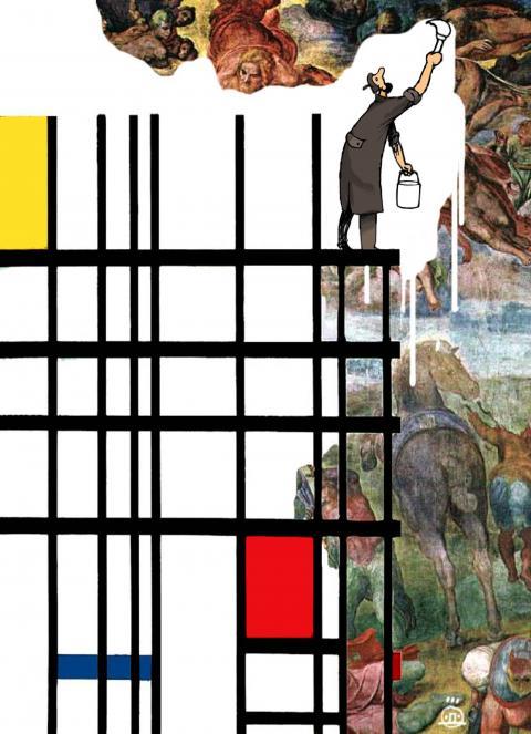 Cartoon about modern art
