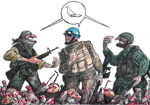 Cartoon about peace