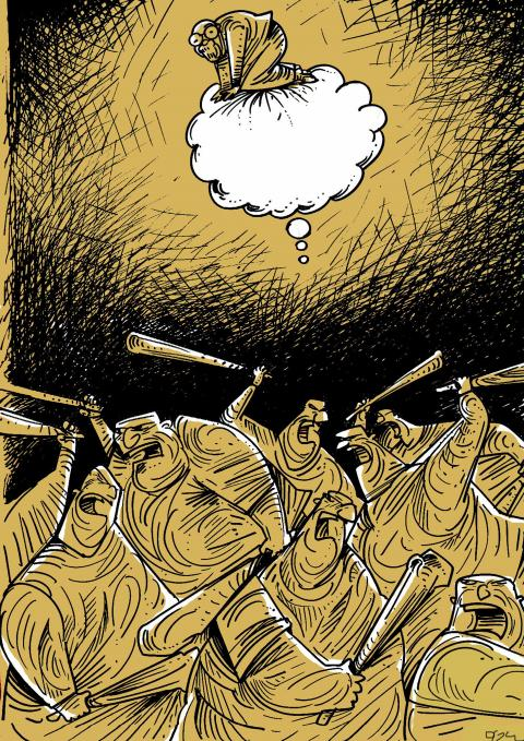 Cartoon about freedom of expression