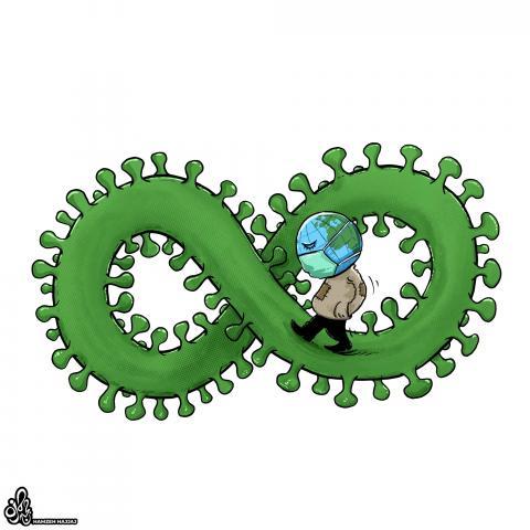 cartoon about the coronavirus