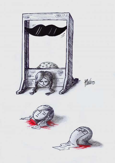 A cartoon about honor killing