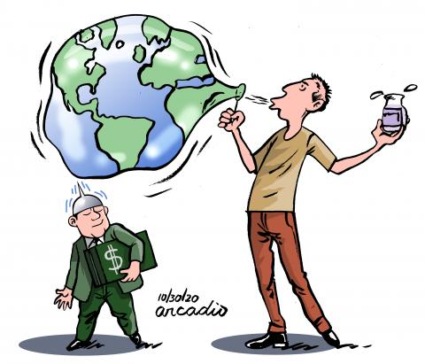 The planet earth and economic interests.