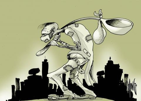 Image that symbolizes the world crisis.