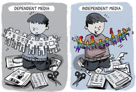 dependent media vs. independent media