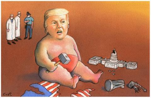 Donald is sad