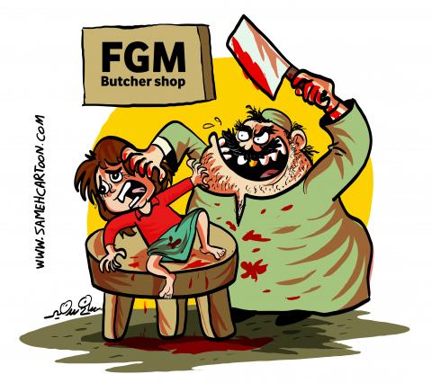 Against female genital mutilation