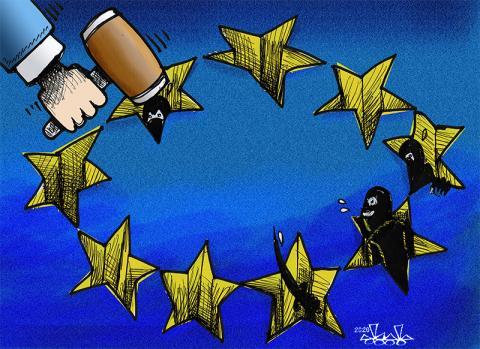 Euro  holes..