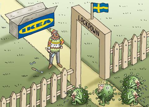 LOCKDOWN IN SWEDEN