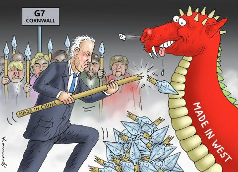 ANTI CHINA G7 IN CORNWALL