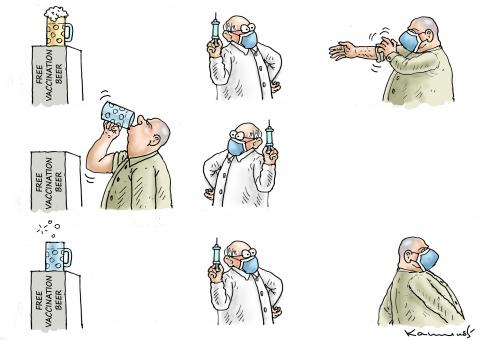 Free vaccination beer