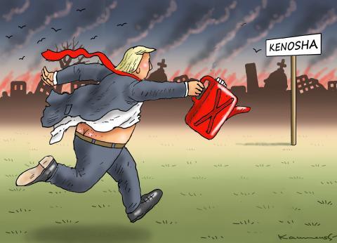FIRESTARTER TRUMP IN KENOSHA