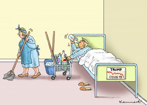 TRUMP IN HOSPITAL