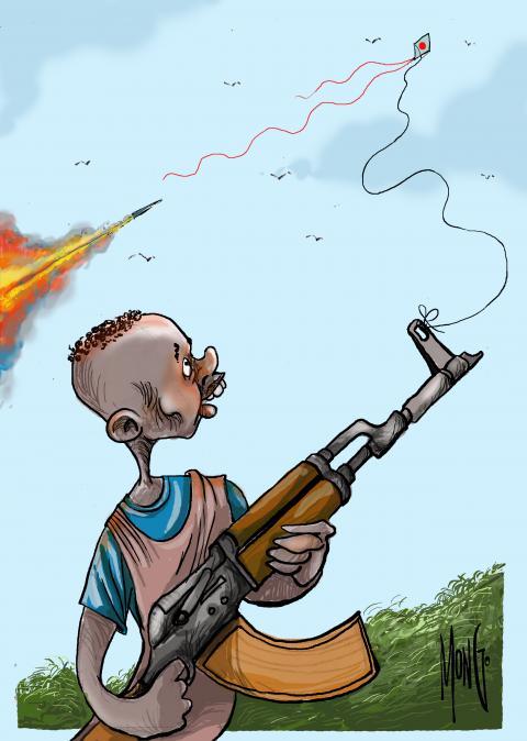 Millones de niños en nuestro planeta pierden su infancia envueltos en conflictos bélicos