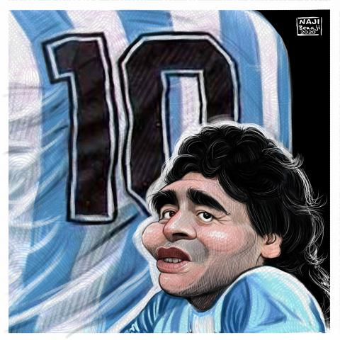 the maradona star is death