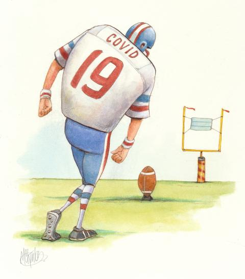 the NFL kickoff amidst a pandemic