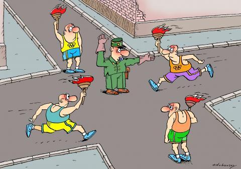 olympik relay-race