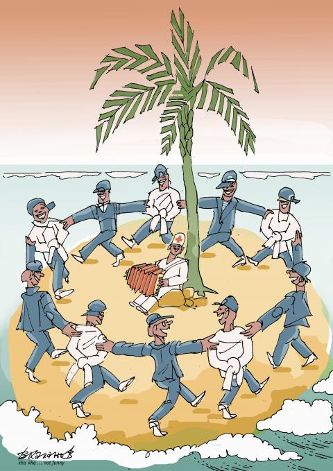 Medicine on the island is a great force. There are no people willing to leave the island.