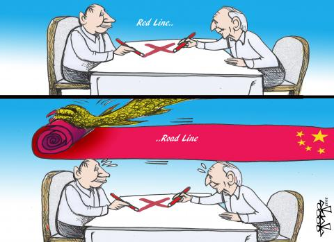 red lines...