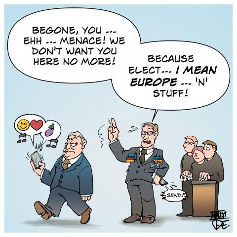 EU Parliament Fidesz EVP Hungary Germany conservative parties elections Europe