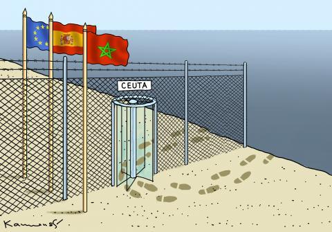 SPANISH ENCLAVE CEUTA IN MOROCCO