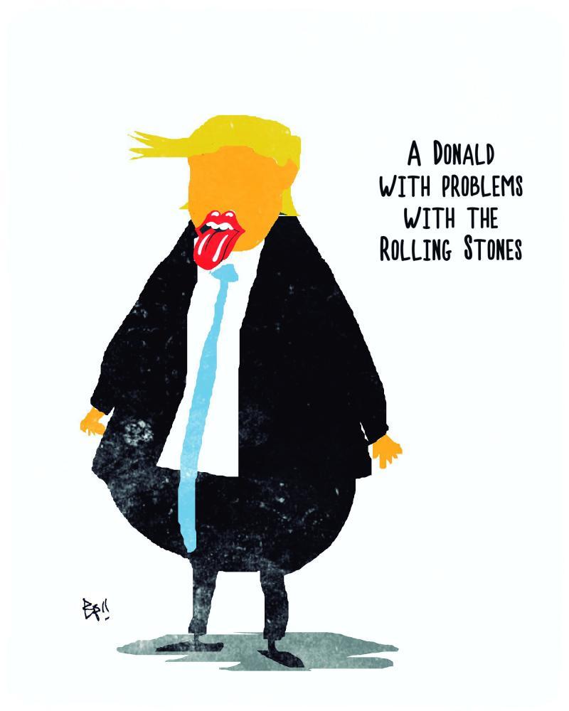Los Rolling Stones tiene problemas con Donald