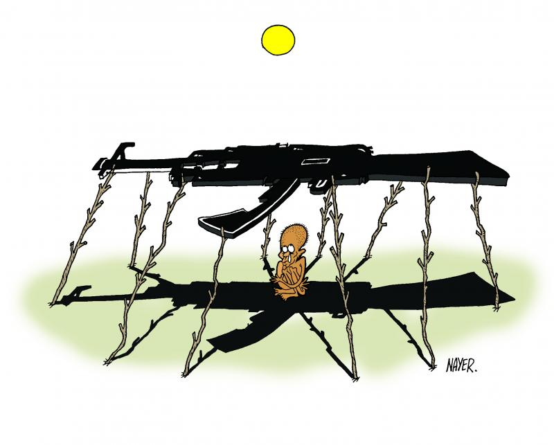 Cartoon about war and violence