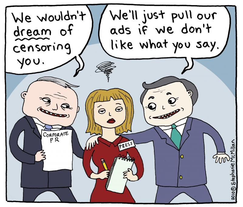 Cartoon about censorship