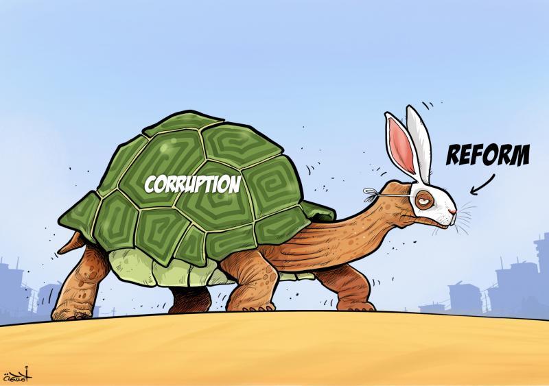 Cartoon about corruption