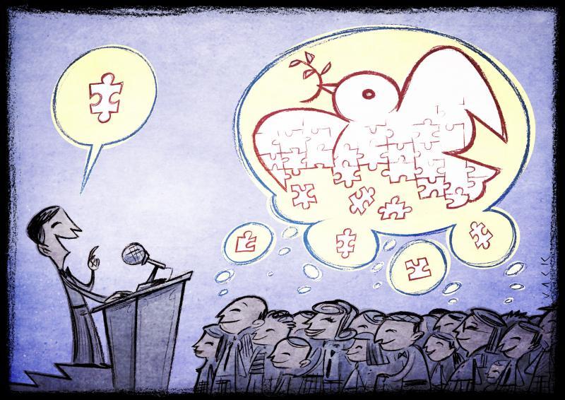 Cartoon about peacebuilding