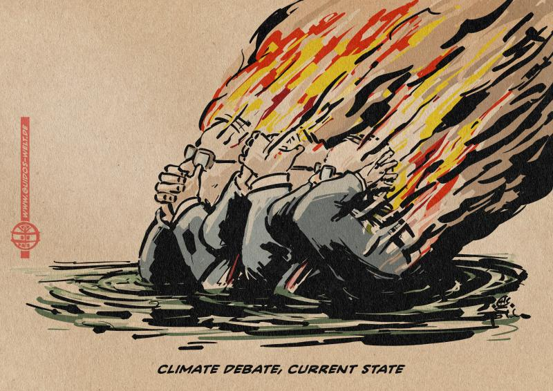 Cartoon about the climate debate