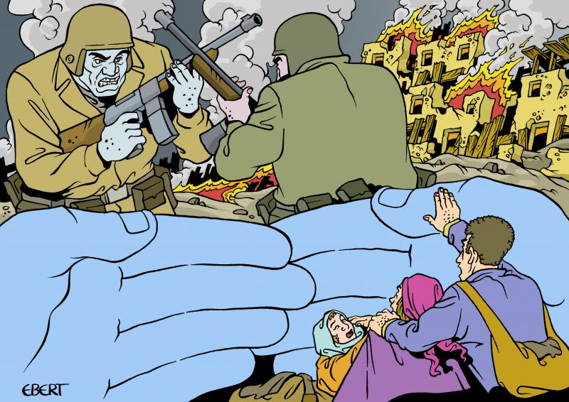 Cartoon about protection from violence