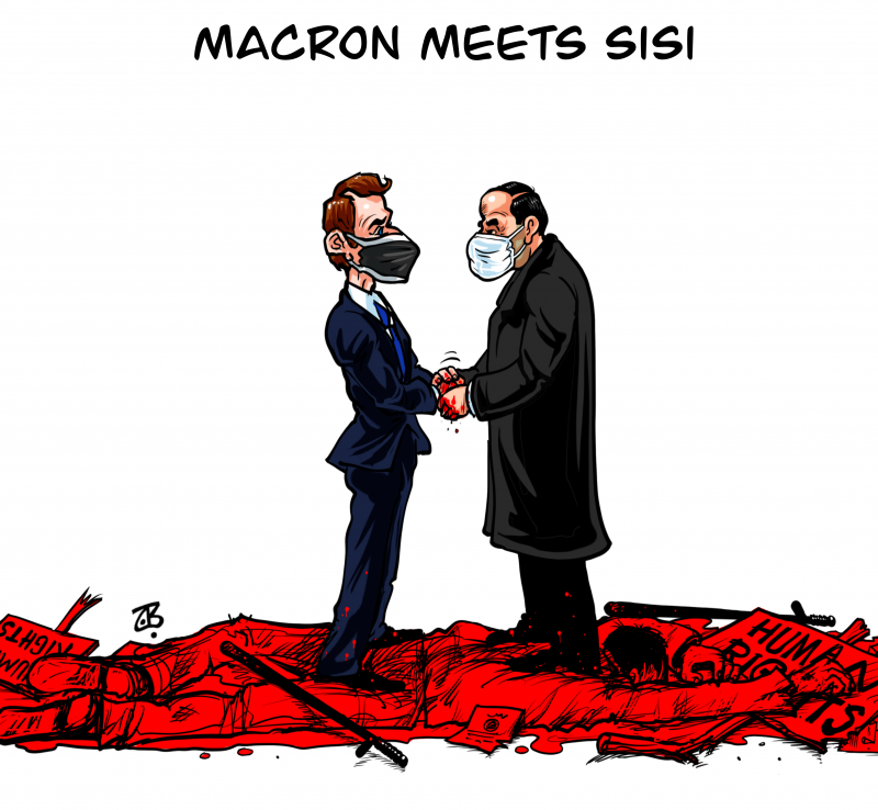 Macron meets Sisi