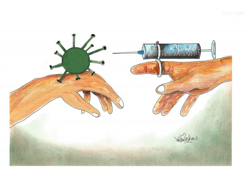 God.s Hands and vaccine