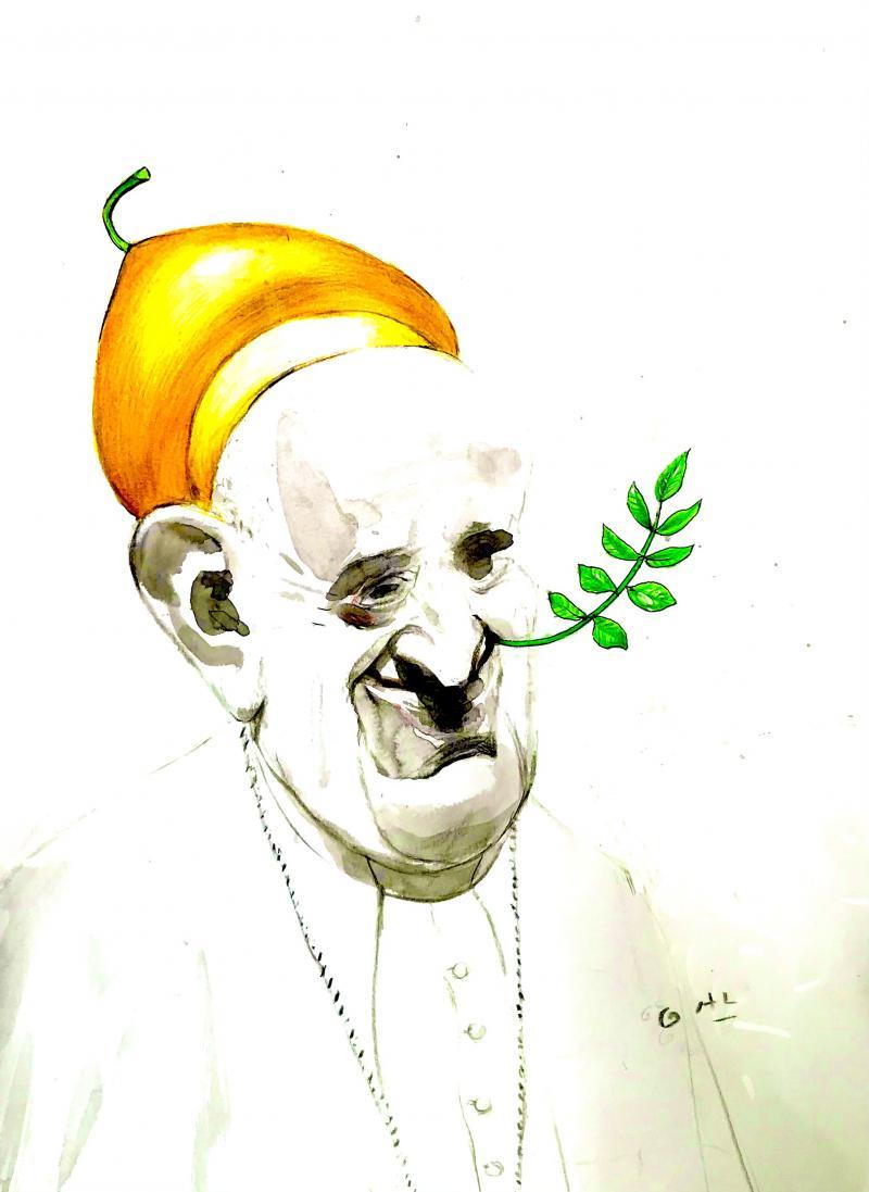 Pope visiting Catholics in Iraq