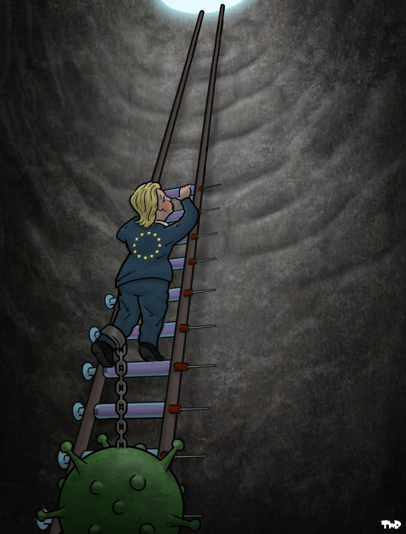 Cartoon about vaccine shortage