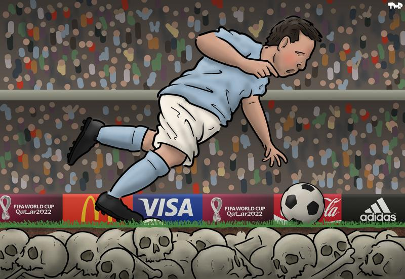 Cartoon about the World Cup in Qatar