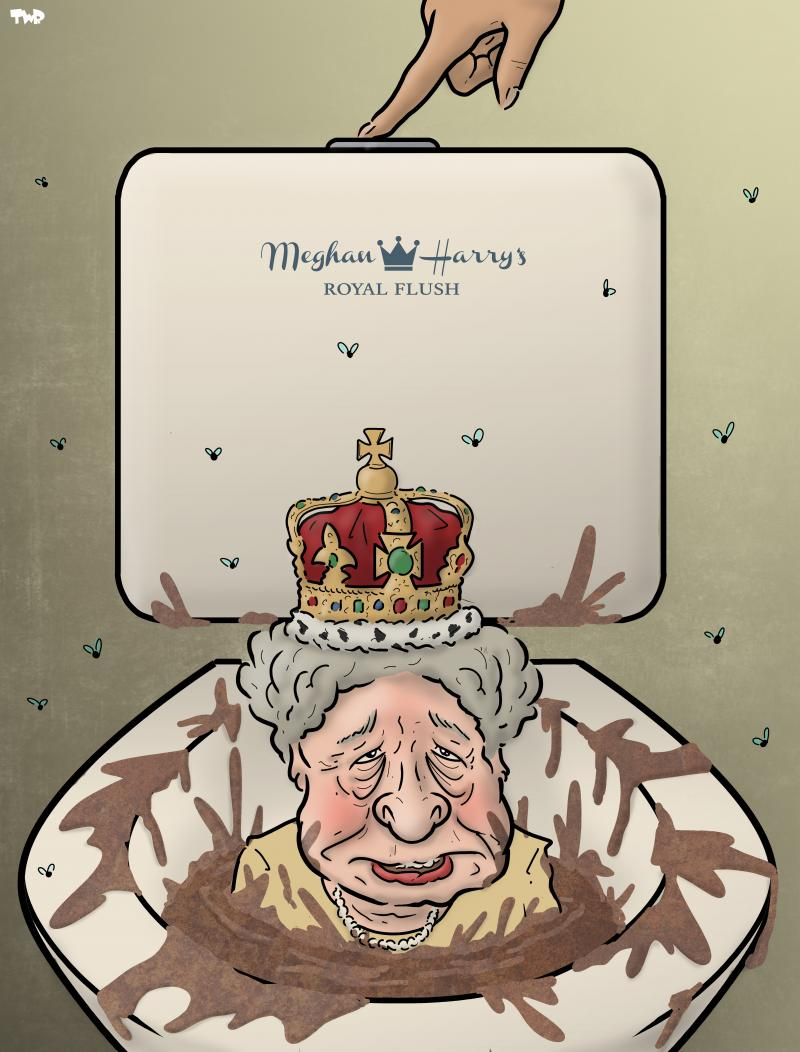 Cartoon about Meghan and Harry
