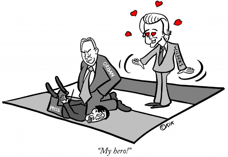 Geert Wilders and Victor Orban