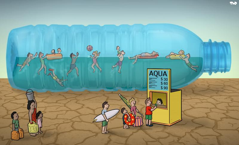 Cartoon about World Water Day