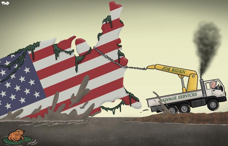 Cartoon about Joe Biden